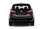 Straight rear view of 2016 Hyundai ix20 Joy 5 Door Mini MPV Rear View  stock images