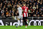 Gareth Bale of Real Madrid and Inigo Martinez of Athletic Club during La Liga match between Real Madrid and Athletic Club de Bilbao at Santiago Bernabeu Stadium in Madrid, Spain. December 22, 2019. (ALTERPHOTOS/A. Perez Meca)