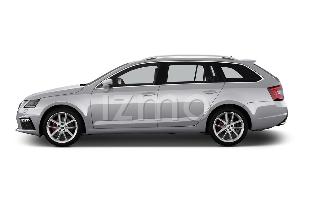 Car Driver side profile view of a 2017 Skoda Octavia-Combi RS 5 Door Wagon Side View