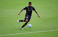 LOS ANGELES, CA - OCTOBER 25: Jose Cifuentes #11 of LAFC turns with the ball during a game between Los Angeles Galaxy and Los Angeles FC at Banc of California Stadium on October 25, 2020 in Los Angeles, California.