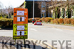 The signs indicating to the Covid-19 Testing Area in the South Campus I T Tralee on Friday morning.