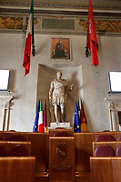 The Giulio Cesare hall, that hosts the capitoline assembly and the town Council of Rome. <br /> Rome (Italy), September 15th 2021<br /> Photo Samantha Zucchi Insidefoto