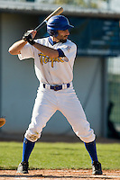 11 Oct 2008: Evan Blesoff is seen at bat during game 1 of the french championship finals between Templiers (Senart) and Huskies (Rouen) in Chartres, France. The Templiers win 5-2 over the Huskies