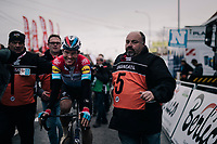 'Ardennes specialist' Bob JUNGELS (LUX/Deceuninck-Quick Step) surprisingly wins the 71th Kuurne-Brussel-Kuurne 2019<br />  <br /> Kuurne to Kuurne (BEL): 201km<br /> <br /> ©kramon