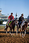 LOUISVILLE, KY - MAY 02: Classic Empire walks off the track with Martin Rivera at Churchill Downs on May 02, 2017 in Louisville, Kentucky. (Photo by Alex Evers/Eclipse Sportswire/Getty Images)