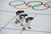 OLYMPIC GAMES: PYEONGCHANG: 19-02-2018, Gangneung Oval, Long Track, Team Pursuit Ladies, Team USA, ©photo Martin de Jong