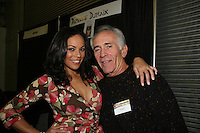 """One Life To Live's Daphnee Duplaix & General Hospital's Bruce Weitz """"Anthony Zachara"""" (Hill Street Blues) appear at Big Apple Comic Con for autographs and photos on October 16 (and 17 & 18), 2009 at Pier 94, New York City, New York. (Photo by Sue Coflin/Max Photos)"""