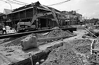 2021 - Siem Reap, Cambodia during roads improvement : new sewers and rain water drains, widening of streets
