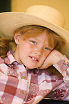 Jordan Valley Big Loop Rodeo--Lacey Gillmore, age 7, in the family tent