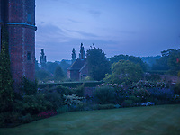 Early morning in the gardens of Sissinghurst Castle, a quintessential English scene