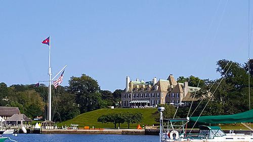 New York Yacht Club's Harbour Court clubhouse in Newport, Rhode Island