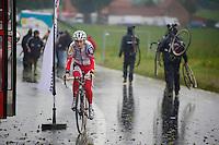 Kevin Pauwels (BEL) off for a recon ride<br /> <br /> Bpost Bank Trofee - GP Mario De Clerq 2013