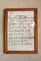 Lago di Como, Italia, Laglio, cantiere navale Ernesto Riva. antico documento dimensioni barca
