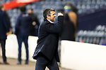 St Johnstone v Hibs…23.01.21   Hampden     BetFred Cup Semi-Final<br />Saints boss Callum Davidson celebrates at full time<br />Picture by Graeme Hart.<br />Copyright Perthshire Picture Agency<br />Tel: 01738 623350  Mobile: 07990 594431