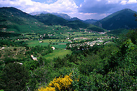 beautiful scenic of rolling hills and mountains in Castellane Provence France