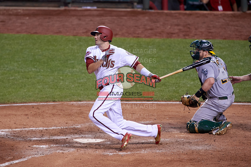 Arizona Diamondbacks A.J. Pollock bats during the MLB All-Star Game on July 14, 2015 at Great American Ball Park in Cincinnati, Ohio.  (Mike Janes/Four Seam Images)