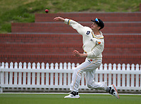 Ollie Newton fields during day three of the Plunket Shield match between the Wellington Firebirds and Auckland Aces at the Basin Reserve in Wellington, New Zealand on Monday, 16 November 2020. Photo: Dave Lintott / lintottphoto.co.nz
