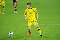 WASHINGTON, DC - OCTOBER 28: Chris Cadden #2 of Columbus Crew SC moves the ball during a game between Columbus Crew and D.C. United at Audi Field on October 28, 2020 in Washington, DC.