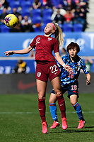 HARRISON, NJ - MARCH 08: Chloe Kelly #22 of England during a game between England and Japan at Red Bull Arena on March 08, 2020 in Harrison, New Jersey.