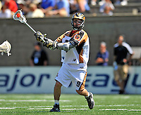 23 August 2008: Rochester Rattlers' Midfielder Gavin Prout in action against the Philadelphia Barrage during the Semi-Finals of the Major League Lacrosse Championship Weekend at Harvard Stadium in Boston, MA. The Rattlers defeated the Barrage 16-15 in sudden death overtime, advancing to the upcoming Championship Game...Mandatory Photo Credit: Ed Wolfstein Photo