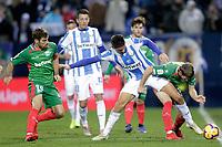 CD Leganes' Guido Carrillo (L) and Deportivo Alaves' Darko Brasanac (R) and Manu Garcia  during La Liga match. November 23,2018. (ALTERPHOTOS/Alconada)<br /> Liga Campionato Spagna 2018/2019<br /> Foto Alterphotos / Insidefoto <br /> ITALY ONLY