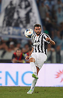 Calcio, Supercoppa di Lega: Juventus vs Lazio. Roma, stadio Olimpico, 18 agosto 2013.<br /> Juventus defender Andrea Barzagli in action during the Italian League Supercup football final match between Juventus and Lazio, at Rome's Olympic stadium,  18 August 2013.<br /> UPDATE IMAGES PRESS/Isabella Bonotto