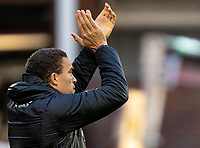 21st November 2020, Oakwell Stadium, Barnsley, Yorkshire, England; English Football League Championship Football, Barnsley FC versus Nottingham Forest; Valérien Ismaël manager of Barnsley  applauds his players