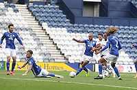 Preston North End's Daniel Johnson scores his sides first goal  <br /> <br /> Photographer Mick Walker/CameraSport<br /> <br /> The EFL Sky Bet Championship - Preston North End v Cardiff  City - Saturday 27th June 2020 - Deepdale Stadium - Preston<br /> <br /> World Copyright © 2020 CameraSport. All rights reserved. 43 Linden Ave. Countesthorpe. Leicester. England. LE8 5PG - Tel: +44 (0) 116 277 4147 - admin@camerasport.com - www.camerasport.com