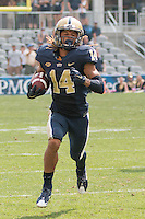 Pitt kickoff returner Avonte Maddox returns a kickoff 89-yards for a touchdown. The Pitt Panthers football team defeated the Youngstown State Penguins 45-37 on Saturday, September 5, 2015 at Heinz Field, Pittsburgh, Pennsylvania.