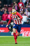 Lucas Hernandez of Atletico de Madrid in action during the La Liga 2017-18 match between Atletico de Madrid and UD Las Palmas at Wanda Metropolitano on January 28 2018 in Madrid, Spain. Photo by Diego Souto / Power Sport Images