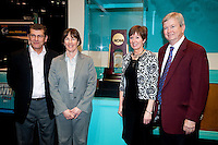 INDIANAPOLIS, IN - APRIL 1, 2011: Coach Tara VanDerveer stands for a photo with the remaining coaches  at the Indianapolis Convention Center at Tourney Town during the NCAA Final Four in Indianapolis, IN on April 1, 2011.