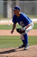 Dan McDaniel - Chicago Cubs - 2009 spring training.Photo by:  Bill Mitchell/Four Seam Images