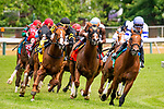 MAY 18, 2019 : English Bee, ridden by Jose Ortiz, wins the MAryland sprint Stakes at Pimlico Racecourse, on May 18, 2019 in Baltimore, MD. Dan Heary_ESW_CSM