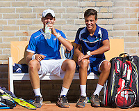 August 9, 2014, Netherlands, Rotterdam, TV Victoria, Tennis, National Junior Championships, NJK,  Final boys 16 years doubles: Ruben Konings(R) and Bart Stevens (NED)<br /> Photo: Tennisimages/Henk Koster