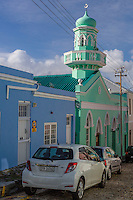 South Africa.  Cape Town, Bo-kaap.  Boorhaanol Mosque, third oldest in Bo-kaap.