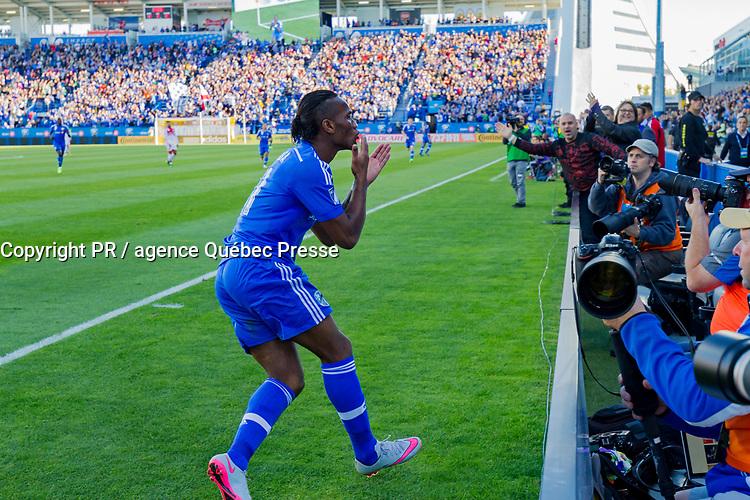Canada, Québec, Montréal, Didier Drogba joueur de MLS avec l'Impact de Montréal en 2015, match du 26 septembre // Canada, Quebec, Montreal, Didier Drogba MLS player with the Montreal Impact in 2015, match of September 26<br /> PHOTO :  Agence Quebec presse