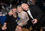 St Johnstone FC Scottish Cup Celebration Dinner at Perth Concert Hall...01.02.15<br /> From left, Sonia Johnson pictured with Gillian Moon (Kevin's Mum) and Robin Wood.<br /> Picture by Graeme Hart.<br /> Copyright Perthshire Picture Agency<br /> Tel: 01738 623350  Mobile: 07990 594431