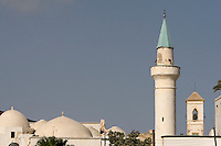 Tripoli, Libya - Minaret and Church Bell Tower