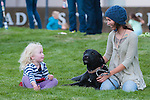 Taylor Durgan and Avery Moury, 3, chat on The Legislative Building lawn during the Epic Rides' Inaugural Carson City Off-Road event on Saturday, June 18, 2016 in Carson City, Nev.<br /> Photo by Kevin Clifford/Nevada Photo Source