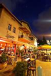 "Israel, Mount Carmel. The ""German Colony"" in Haifa at night"