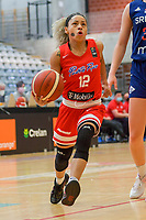 Dayshalee Salaman (12) of Puerto Rico pictured during a basketball game between the national teams of Puerto Rico and Serbia on Sunday 30 th of May 2021 in Kortrijk , Belgium . PHOTO SPORTPIX.BE   SPP   STIJN AUDOOREN