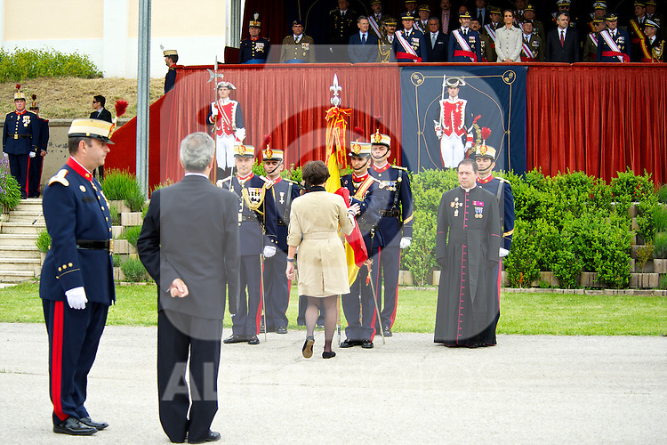 Princess Elena attends civilian personnel Flag Ceremony at the El Pardo Palace on May 6, 2011 in Madrid, Spain
