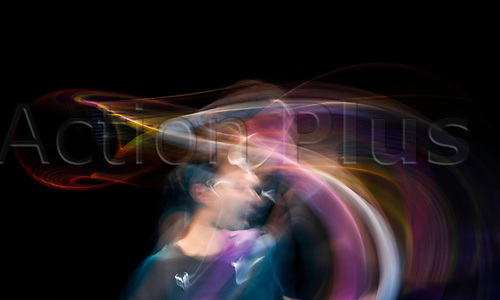 19th November 2020; O2, London; Rafael Nadal of Spain returns during the singles group match against Stefan Tsitsipas of Greece at the ATP, Tennis World Tour Finals 2020 in London