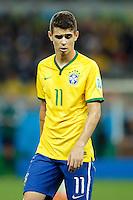 Oscar of Brazil looks dejected