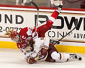 Erin Connolly (BC - 15), Alexis Crossley (BU - 25) - The Boston College Eagles defeated the visiting Boston University Terriers 5-3 (EN) on Friday, November 4, 2016, at Kelley Rink in Conte Forum in Chestnut Hill, Massachusetts.The Boston College Eagles defeated the visiting Boston University Terriers 5-3 (EN) on Friday, November 4, 2016, at Kelley Rink in Conte Forum in Chestnut Hill, Massachusetts.