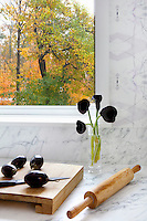 Black tulips in the kitchen