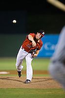 Kannapolis Intimidators relief pitcher Ian Hamilton (12) in action against the West Virginia Power at Kannapolis Intimidators Stadium on August 20, 2016 in Kannapolis, North Carolina.  The Intimidators defeated the Power 4-0.  (Brian Westerholt/Four Seam Images)