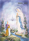 Randy, EASTER RELIGIOUS, OSTERN RELIGIÖS, PASCUA RELIGIOSA, paintings+++++Our-Lady-of-Lourdes-painting,USRW126,#ER#
