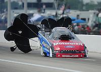 Apr. 29, 2012; Baytown, TX, USA: NHRA funny car driver Bob Tasca III during the Spring Nationals at Royal Purple Raceway. Mandatory Credit: Mark J. Rebilas-