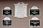 May18, 2015  Signs at the Bob Baffert barn at Churchill Downs have been modified to show the Kentucky Derby win of Zayat Stable's American Pharoah. Owner Zayat Stables, trainer Bob Baffert. By Pioneerof The Nile x Littleprincessemma (Yankee Gentleman.) ©Mary M. Meek/ESW/CSM